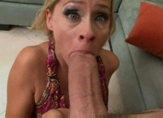 Hot Blonde Cougar Wants a Huge White Cock