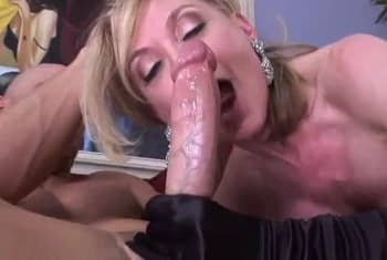 The Blonde Cougar Likes Big White Dick