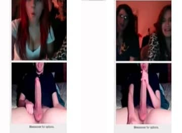 Girls Shocked By Giant Cock On Omegle Chat